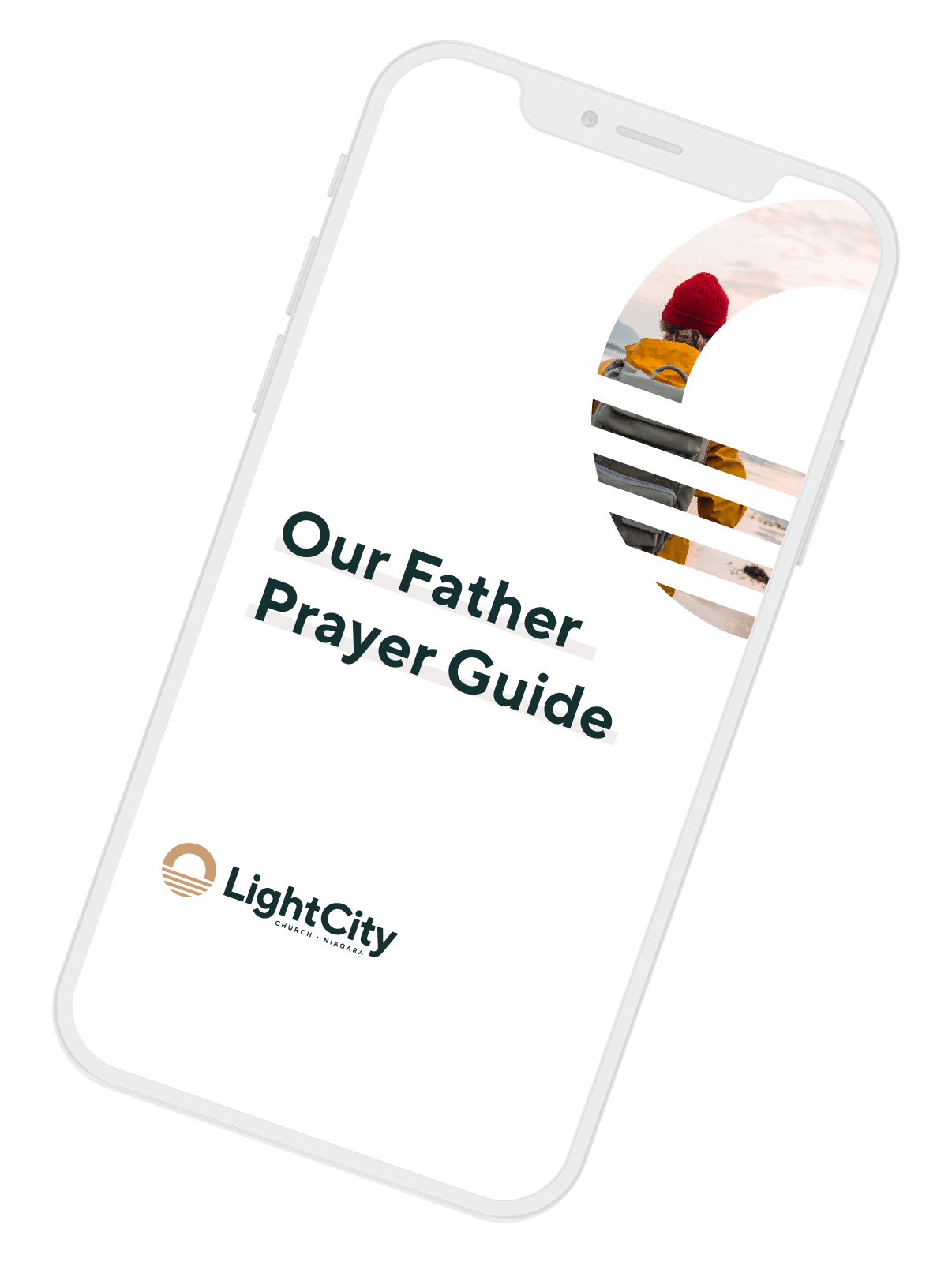 Our Father Prayer Guide Phone Image